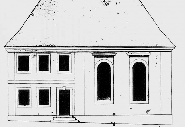 Building plan of the synagogue in Mühlen.