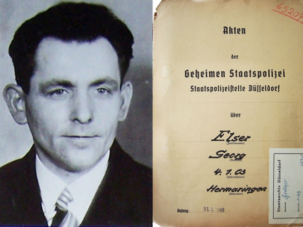 """I Wanted to Prevent War"" – Georg Elser and the November 8, 1939 Bürgerbräukeller Bombing"
